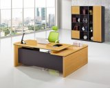 Larg Extention Table and Cabinet Attached Wooden Office Furniture (HX-GD037)