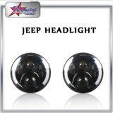Waterproof IP68 High Power 7 Inch 50W Headlight for Jeep Wrangler Headlight High and Low Beam LED Round Headlight
