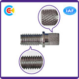 Carbon Steel/4.8/8.8/10.9 M2.5/Galvanized/Customized Double Rod Fastener Knurled Bamboo Screw