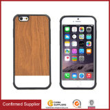 Slim Anti-Fingerprint Wooden Grain Lagging PU Leather Cell Phone Cases