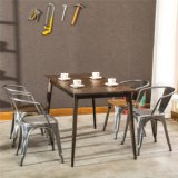 (SP-CT752) China Supplier Vintage Furniture Metal Chair Set for Sale