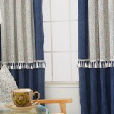 Customized Size Cheap 100% Polyester Hotel Curtain with Sheer