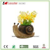Polyresin Snail Statue Flowerpots for Home and Garden Decoration