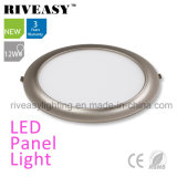 2017 New Product Electroplated Aluminum 12W Grey LED Panel Light