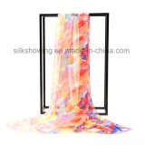 fashion 170*55cm Lady Silk Chiffon Custom Print Silk Scarf