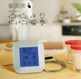 Square Touch Screen Digital Probe Stainless Thermometer for Kitchen with Timer