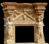 Marble Sculpture Carving Fireplace (XF-107)
