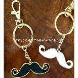 Mustache Iron Metal Key Charm/Keychain