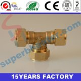 Brass Equal Tee Connector Fitting for Copper