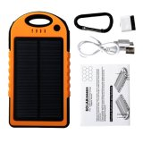 Portable Solar Phone Charger 12000mAh Battery Backup Power Bank