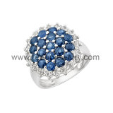 2013 Shiny CZ Diamonds Rhodium Plated 925 Sterling Silver Rings