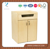 Book Return Cabinet with Concealed Mobile Cart & Padded Interior