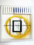 Gpon Telecommunication 1X8 Plastic Box PLC Splitter with Connector