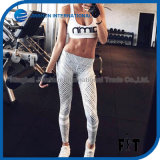 New Design Women Elastic Yoga Pants with Black and White Stripe