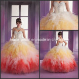 Multi Colors Ruffles Bridal Ball Gown Luxury Quinceanera Dress Q89018
