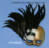 Personal Decoration Turkey/Ostrich Feather Mask