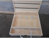 Wood Packing Boxes for Wine, Solid Wood Wine Box