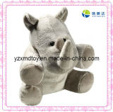 Plush Sitting Rhino Toy