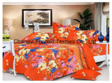 Poly Cotton Printed Fitted Bedspread Patchwork Bedding Set