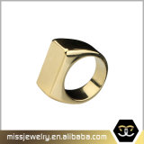 Custom Popular Gold Plated Stainless Steel Cheap Metal Mens Rings