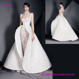 a Fantasy and Enormous Skirt Wedding Gown with Open Back