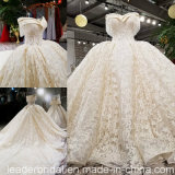 off Shoulder Bridal Ball Gown Lace Crystal Beading Wedding Dress Yao113