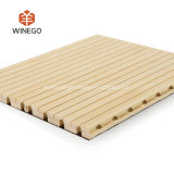 Wooden groove acoustic panel
