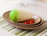 Rice Husk Fibre Tableware Oval Shape Plate
