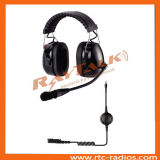 Two Way Radio Noise Canceling Helmet Headset with Microphone & XLR