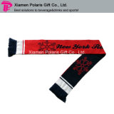 Red and Black Winter Sports Muffler with Jacquard Logo