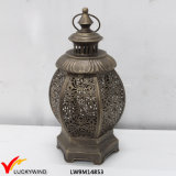 Hanging Antique Decorative Metal Lantern for Candles