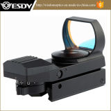 Tactical 4 Reticle Red DOT Open Reflex Sight with Rail Mount