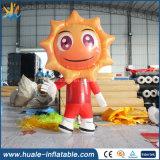 2016 Cute Advertising Inflatable Sun Air Cartoon, Inflatable Walking Cartoon
