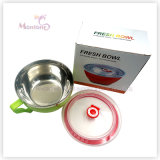 18.5*16*9cm PP Stainelss Steel Fresh Seal Bowl with Lid Handle