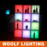 LED Colors Glowing Commercial Antique Wine Bar Cabinet