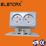Europe Style Double 2 Pin Wall Socket Outlet (S1209)