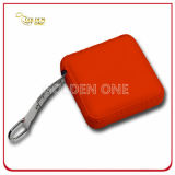 Promotion Gift Retractable PU Leather Square Measure Tape