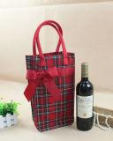Red Decorative Christmas Wine Bag