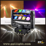 New Double 4PCS RGBW LED Moving Head Beam DJ Light