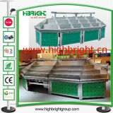Stainless Steel Supermarket Display Shelf for Fresh Vegetables and Fruits