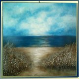 Handmade Sea View Beautiful Scenery Oil Painting on Canvas (LH-038000)