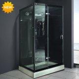 New Black 6mm Tempered Glass Steam Shower Room M-8290