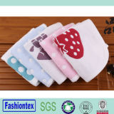 100% Cotton Hand Towel and Face Towel Soft Strawberry Pattern Face Towel