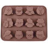 12 Owls Silicone Cake Bread Chocolate Jelly Candy Baking Mould