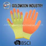 10g 2 Threads Yellow Liner Orange Latex Safety Work Glove