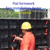 Flat Formwork Faster, Cost Saving, Reusable, Plastic Formwork