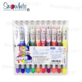 Snwohite PVP626 Highlighter with Liquid Ink System 10 Colors Assorted Chisel Tip