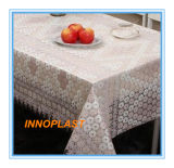 PVC Printed Transparent Tablecloth with Nt Pattern (NT0004)