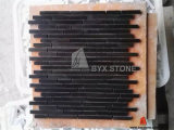 Black Wood Marble Mosaic for Wall Cladding