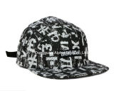 White/Black Camper Hat with Woven Label
